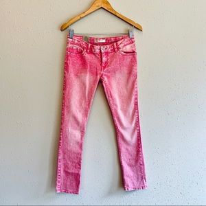 Levi's 711 Girls Pink Washed Skinny Jeans/Sz14/NWT
